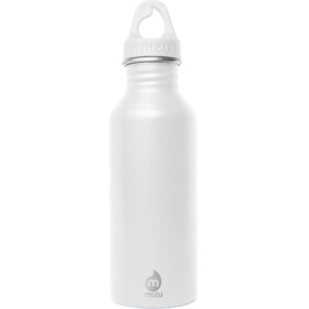 MIZU M5 Bidon with White Loop Cap 500ml biały